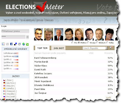 ElectionsMeter - The World public political preference and comment site