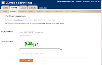 Custom Domain na Blogger.com