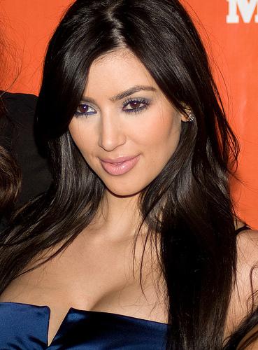 Long Hair Kim Kardashian. kim kardashian hair updos.