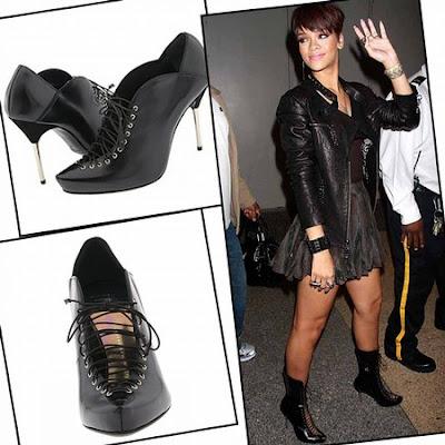 Rihanna's Giuseppe Zanotti Lace Up Boots