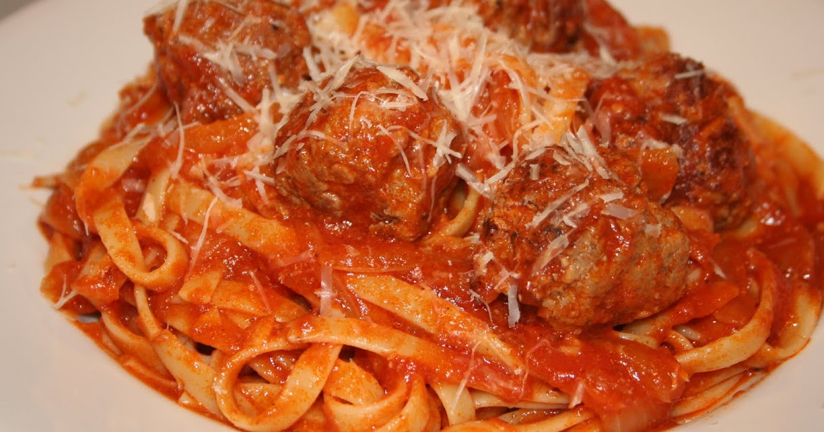 COOK WITH SUSAN: Fettuccine and Meatballs