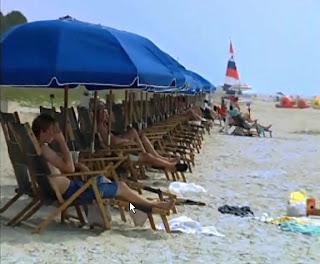sunbathing on Hilton Head Island beach