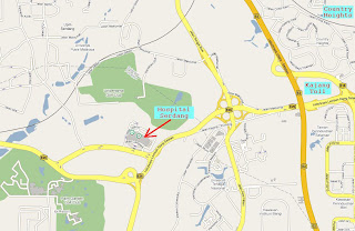 location map of Hospital Serdang