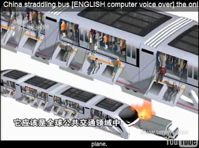 straddling bus inflated ladder emergency escape system