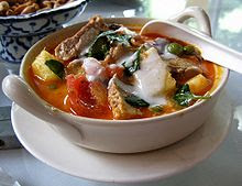 Thai red roast duck curry