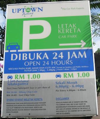 Damansara Uptown Multistorey Carpark Rates