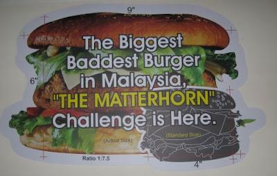 The big bad Matterhorn Burger