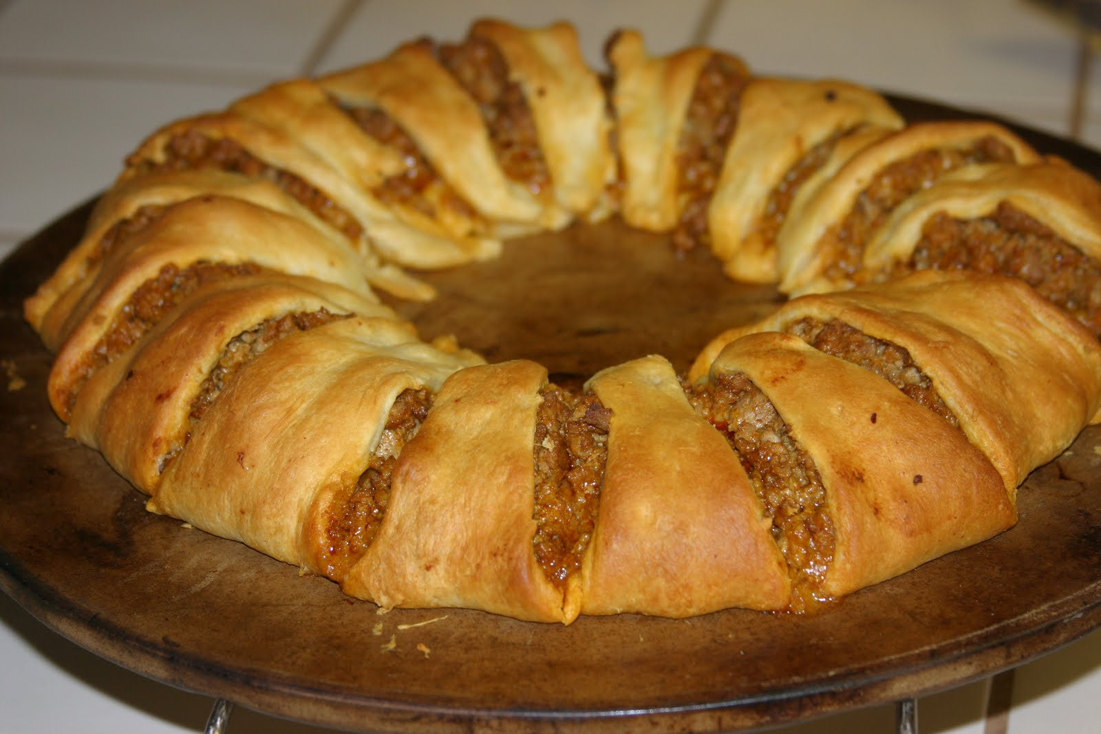 Crescent Roll Taco Bake Ring