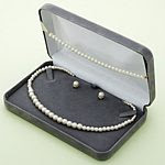 Adults Pearl Necklace, Earring, and Bracelet Set