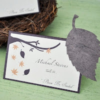 Fall Leaf Plantable Flower Seed Place Cards - Set of 12