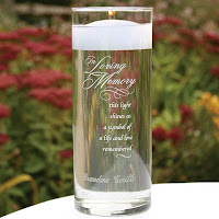 Personalized In Loving Memory glass memorial candle holder