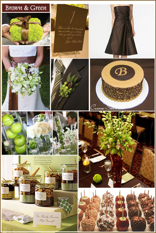 Brown and Green Wedding Centerpieces Decor | Wedding-