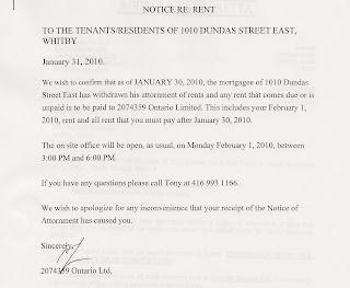 1010 Dundas St E Trailer Park Whitby ON: 2074359 Acknowledgement