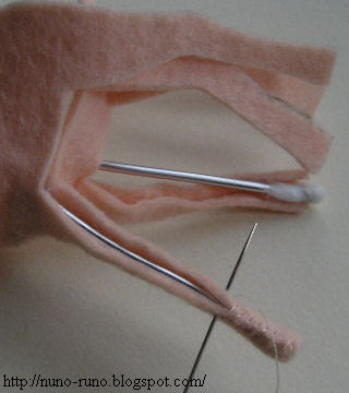 Sew the leg