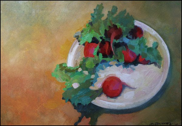 Radishes on a Plate - May 3rd