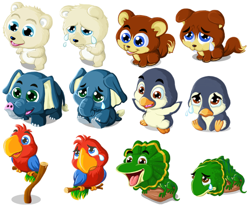 baby animal cartoon characters  Pinterest