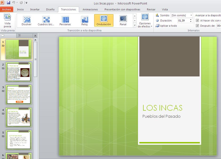 aprendiendo powerpoint entorno de trabajo