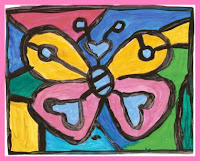 borboleta3 Releitura As Borboletas Romero Brito para crianas