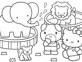 Hello Kitty Car Coloring Page