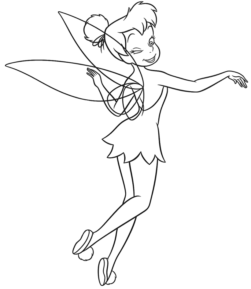 tinkerbell printable coloring pages design for kids