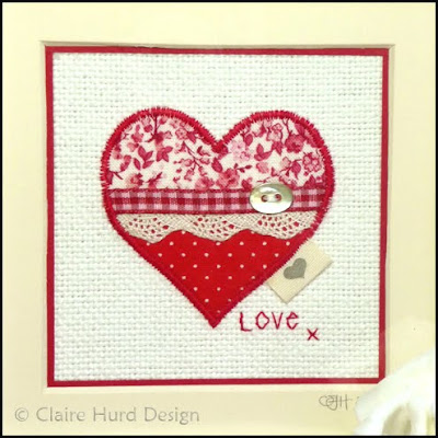 love heart borders. a red order and is signed