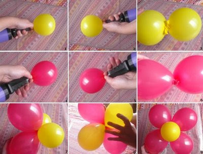 Decoracion en globos for Como hacer decoracion con globos
