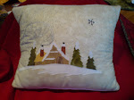 WINTER COTTAGE CUSHION