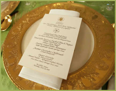 Clinton White House Formal Dinner Setting