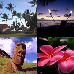 Photos: Ka'anapali Maui, torches, plumeria, Easter Island