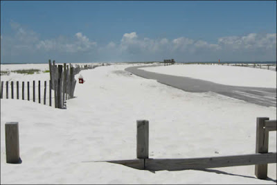 Snow drifts in January? Or white sand beach in June?
