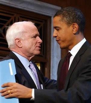 McCain and Obama, BFF.