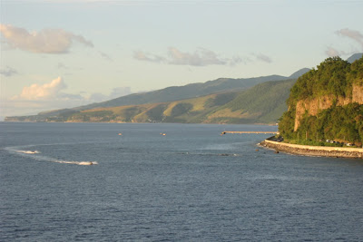 Heading north out of Roseau, Dominica