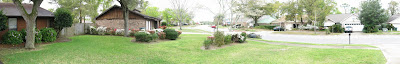 Panoramic photo of the front yard