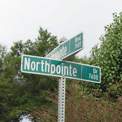 Intersection of Northpointe Boulevard and Northpointe Drive