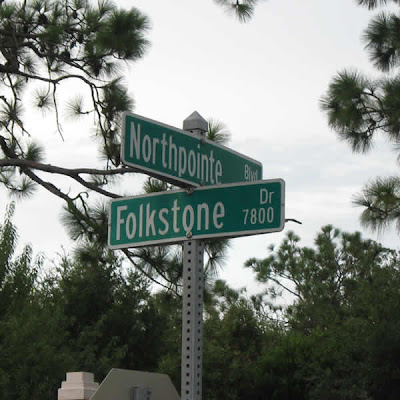 Intersection of Northpointe Boulevard and Folkstone Drive