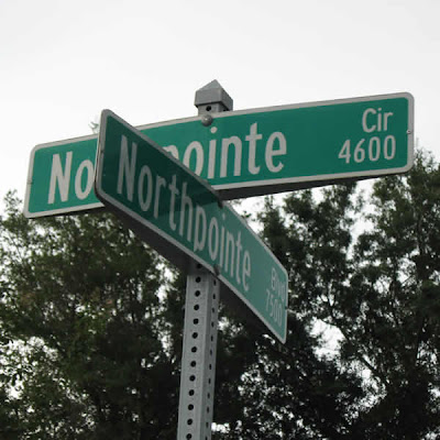 Intersection of Northpointe Boulevard and Northpointe Circle