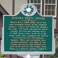 Historic marker at Eudora Welty House