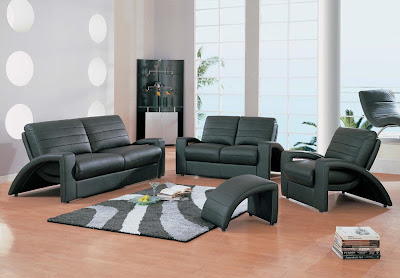 Modern Leather Sofa : Living Room Interior Design