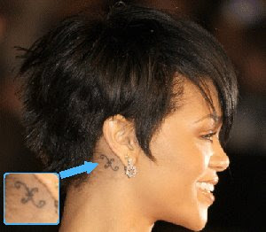 Rihanna Star Tattoo Ear