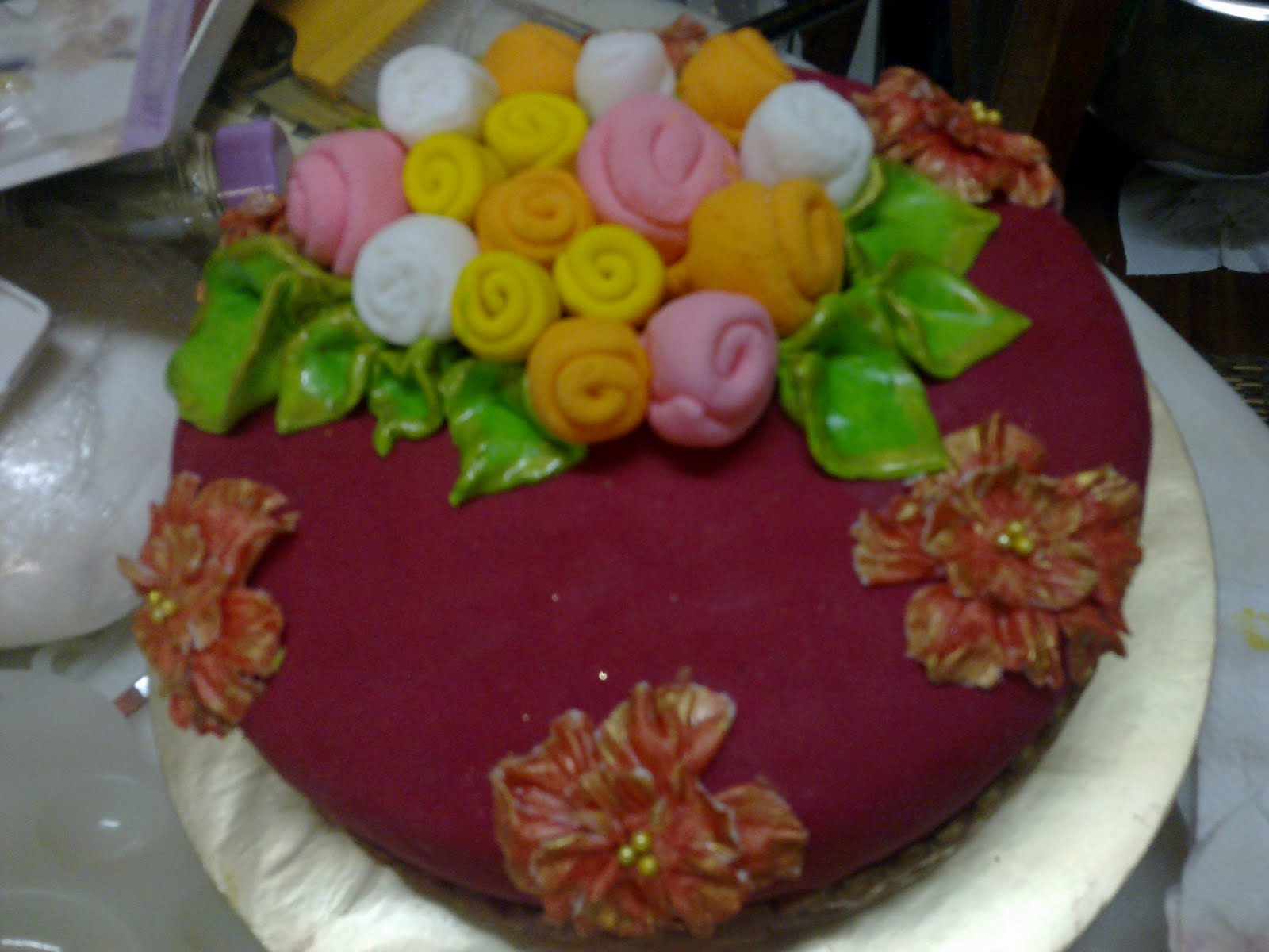 Fondant Cake For Beloved Daughter Engagement Hantaran