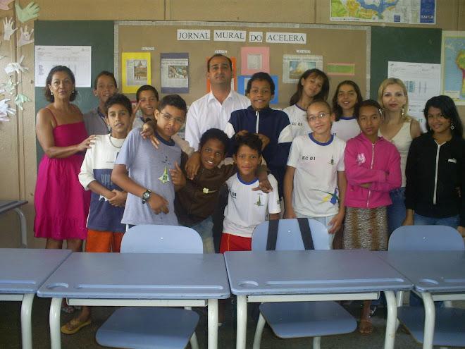 visita do Administrador de Ceilândia, Sr. Leonardo À turma de Celeração