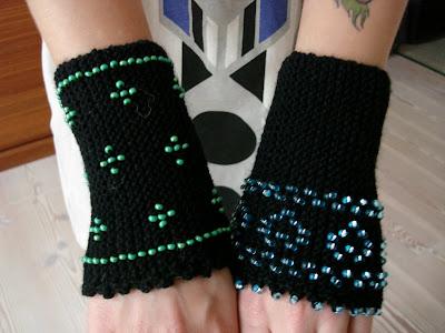 Håndledsvarmere med perler
