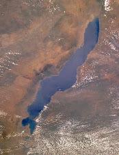 A Malawi tó az űrből