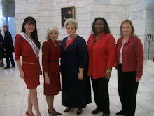 With members of the advocacy committee, and first lady of Arkansas Ginger Beebe