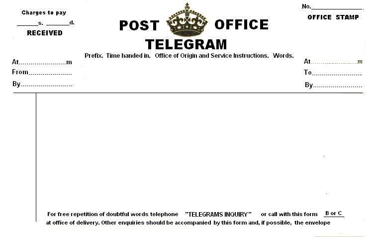 Propnomicon: Blank Telegrams From Great Britain