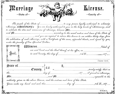 another marriage license