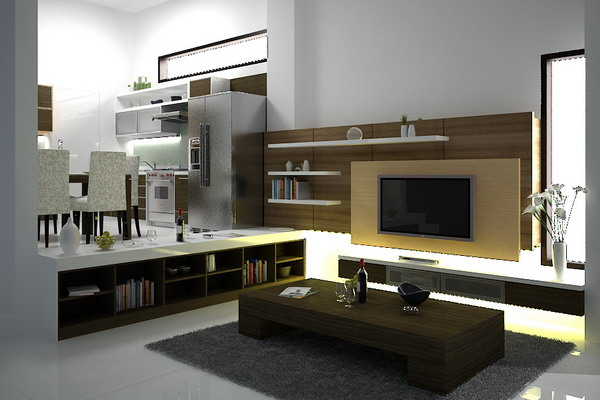 Television backdrops joy studio design gallery best design for Rak kitchen set minimalis