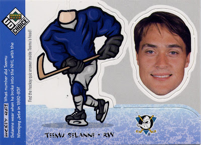 Teemu Selanne, Anaheim Mighty Ducks, 98-99 Collector's Choice Bobbing Head, Bobble Head, hockey card