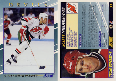 Scott Neidermayer, New Jersey Devils, Score, Young superstars, 92-93, nhl, hockey, hockey cards
