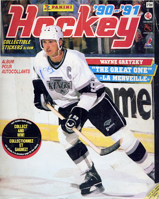 Panini, sticker book, 90-91, wayne gretzky, los angeles kings, nhl, hockey, hockey cards